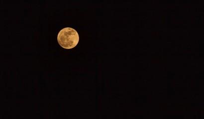 Beautiful full moon in the sky.