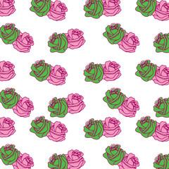 roses flower ornament decoration pattern vector illustration