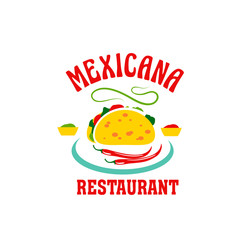 Vector icon for Mexican cuisine restaurant
