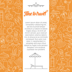 Time to travel background.