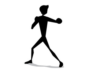 boxing silhouette cartoon movement illustration design.silhouette cartoon style design.designed for web and print