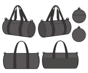 BOSTON BAG fashion flat technical drawing template
