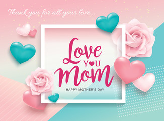 Happy Mother's Day greeting design