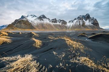 amazing wild landscape of stokksnes, iceland