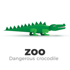 Vector crocodile illustration