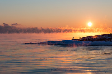 The shore of Liuskasaari
