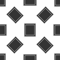 Postal stamp icon seamless pattern on white background. Flat design. Vector Illustration