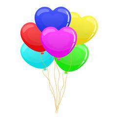 balloon heart set