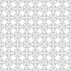 Gray geometric ornament on white background. Seamless pattern