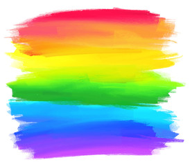 Rainbow colors stripes vector background