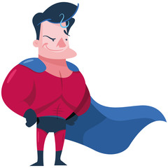 Male superhero with red and blue costume