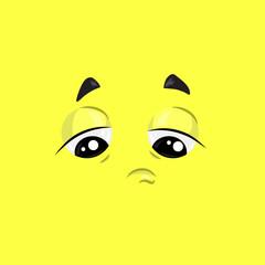 Sad Face Illustration