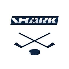 shark logo for a club or sport hockey team