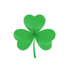 Green Shamrock leave icon - Saint Patricks Day symbol