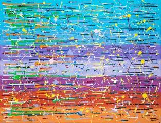 """Malerei """"42"""" von Carola Vahldiek, Gouache auf Leinwand"""