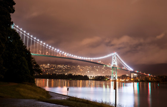 Lions Gate Bridge at the Stanley Park in Vancouver