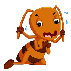 cute brown ant crying