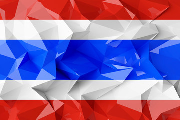 Low poly flag of Thailand.