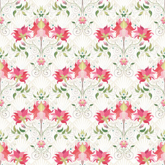 Vector seamless background. Beautiful floral pattern. Delicate ornament on backdrop.