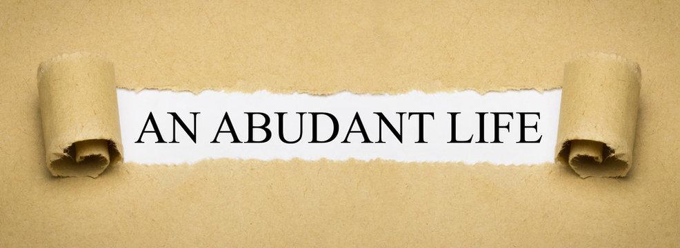 An Abudant Life