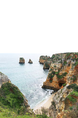 Landscape with cliffs and sea in Portugal