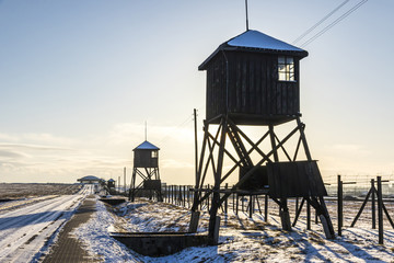 Majdanek concentration camp in Lublin, Poland