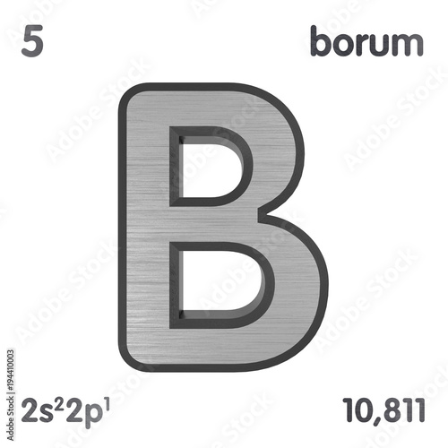 Boron B Or Borium Chemical Element Sign Of Periodic Table Of