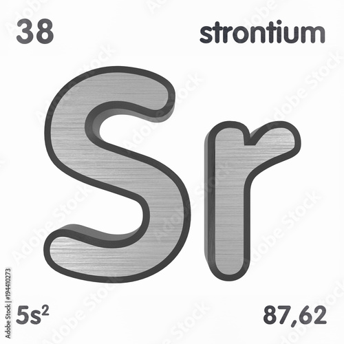 Strontium Sr Chemical Element Sign Of Periodic Table Of Elements