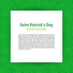 Saint Patrick Paper Template