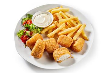 Tasty Dutch kibbeling, bite sized portions of fish