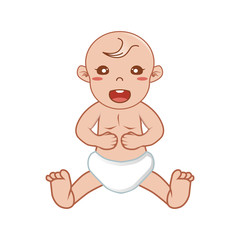 Baby Smiling Vector Illustration