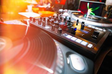 Professional dj turntable vinyl records player
