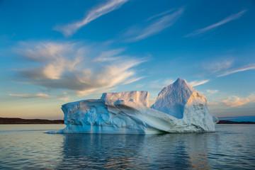 Iceberg and beautiful sky in Greenland.