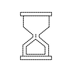 dotted shape hourglass classic object to control the time