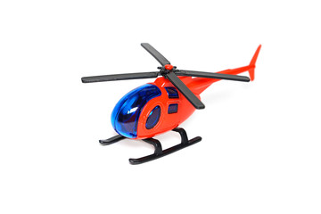 toy helicopter isolated white background