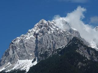 Fototapete - Mountain peak in Julian Alps