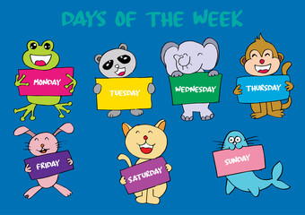 Days of the week with animals