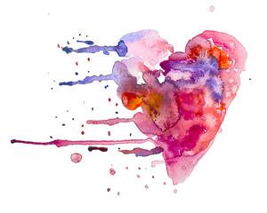 cuore dipinto amore acquerello