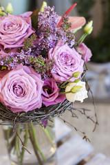 Сиреневый букет цветов крупным планом