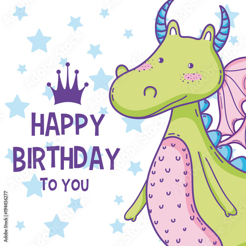 Happy Birthday Card Cute Cartoons Stock Image And Royalty Free