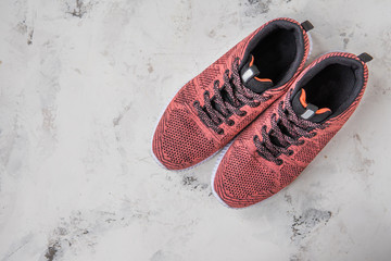 Sneakers for woman. Footwear for fitness and sport