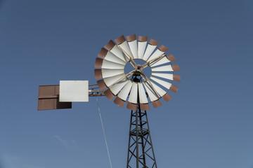 Windpump or water pumping windmill