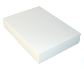 Blank tall box. 3d illustration on studio background. 3D Illustration. Isolated on white background.