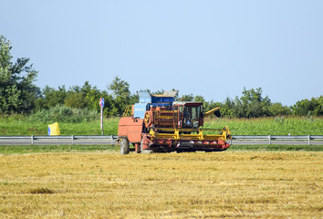 Combine harvesters. Agricultural machinery.