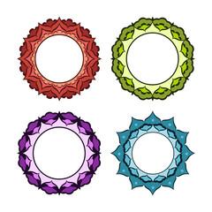 Round frame-mandala.