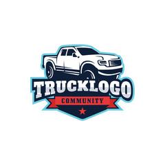 Truck Car vector logo template illustration