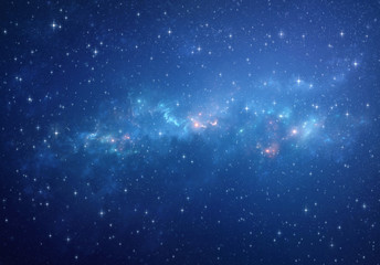 Deep space background - Stars and galaxies