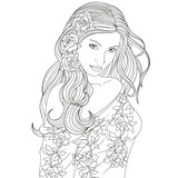 beautiful girl coloring pages\