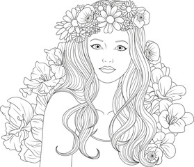 beautiful girl coloring pages – kaufen Sie diese ...