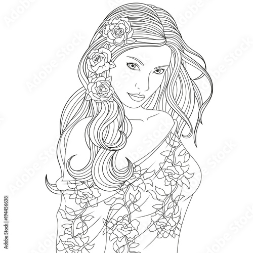 beautiful girl coloring pages beautiful girl coloring pages